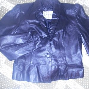 Berman's Black Leather Jacket